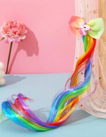 Fashion Unicorn Butterfly Animal Contrast Color Childrens Wig Braids