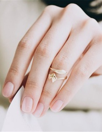 Fashion Golden Color Fox Alloy Adjustable Open Ring