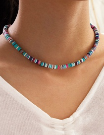 Fashion Color Mixing Soft Ceramic Hand-beaded Contrast Necklace
