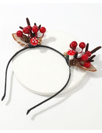 Fashion Pine Ball Antlers Pine Ball Resin Flannel Antler Headband