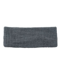 Fashion Light Gray Pure Color Knitted Stretch Headband