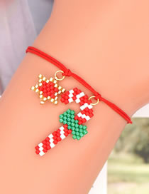 Fashion Six-pointed Star Rice Beads Woven Handmade Christmas Gift Six-pointed Star Bracelet