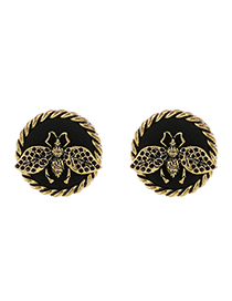 Fashion Bronze Alloy Insect Round Earrings