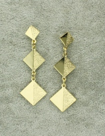 Fashion Square Sequin Love Geometric Frosted Earrings