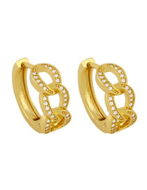 Fashion White Micro-set Zircon Twist Earrings