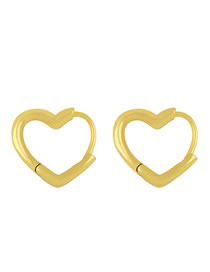Fashion Heart-shaped Five-pointed Star Love Gold-plated Earrings