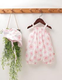 Mameluco Bóxer Con Estampado De Flores De Frutas Para Bebé