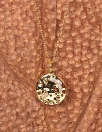 Fashion Five-pointed Star Xingyueyuan Coin Diamond Pendant Necklace