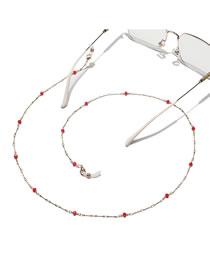Fashion Red Chain Crystal Handmade Beaded Glasses Chain