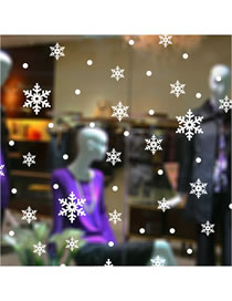 Fashion White Christmas Snowflake Shop Window Glass Background Wall Decoration Wall Sticker