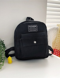 Fashion 19 Inch Two Black Canvas Bunny Elephant Stitching Contrast Backpack