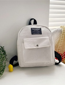 Fashion 16 Inch Two White Canvas Bunny Elephant Stitching Contrast Backpack