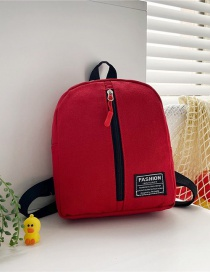 Fashion 16 Inch Three Red Canvas Bunny Elephant Stitching Contrast Backpack