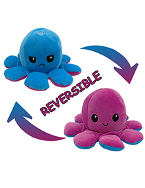 Fashion Purple+blue Double-sided Flip Doll Octopus Plush Doll