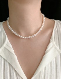 Fashion Pearl Chain Thick Chain Pearl Bead Alloy Necklace