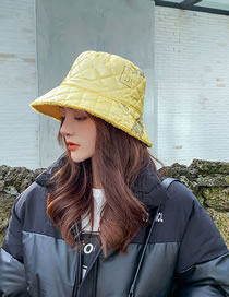 Fashion Yellow Laser Double-sided Wear Solid Lamb Hat Fisherman Hat