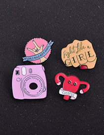 Fashion Suit Letter Camera Animal Funny Dripping Pin