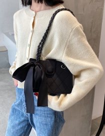 Fashion Black Large-capacity Chain Diamond Shoulder Messenger Bag