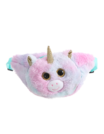 Fashion Light Green Tie-dye Unicorn Plush One-shoulder Messenger Bag