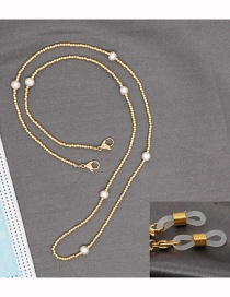 Fashion Gold Color Handmade Beaded Necklace Multifunctional Non-slip Glasses Chain