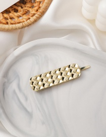 Fashion Gold Color Braided Diamond-shaped Alloy Hairpin
