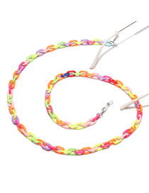 Fashion Color Resin Acrylic Mixed Color Environmental Protection Glasses Chain