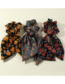 Fashion Suit Bowknot Printed Ribbon Hair Rope Set