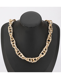 Fashion Gold Color Thick Chain Hollow Alloy Necklace