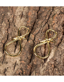 Fashion Gold Color Real Gold Plating Micro-inlaid Zircon Knot Earrings