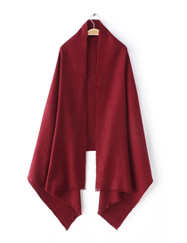 Fashion Red Wine Pure Cashmere Scarf Shawl