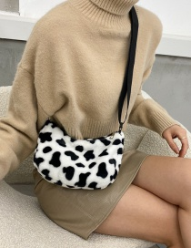 Fashion Cow Pattern Without Pendant Cow Plush Print Crossbody Shoulder Bag