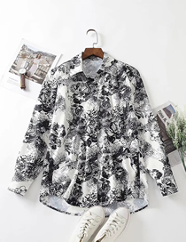 Fashion Geometric Patterns Sketch Butterfly Print Loose Shirt