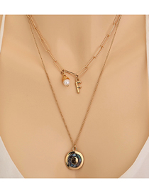 Fashion Golden Freshwater Pearl Shell Multilayer Necklace