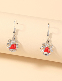 Fashion Little Bell Christmas Small Bell Alloy Earrings