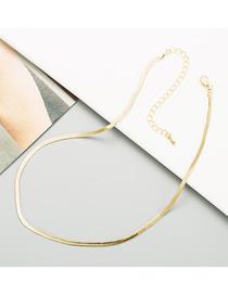 Fashion Golden Titanium Steel Snake Bone Chain Necklace