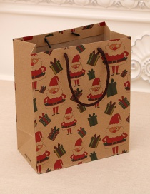 Fashion Medium [26*10*32cm] No. 1 Christmas Hand Kraft Paper Bag