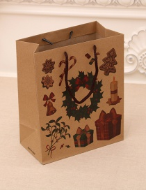 Fashion Medium [26*10*32cm] No. 2 Christmas Hand Kraft Paper Bag