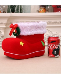 Fashion Extra Large Candy Boots Christmas Flocking Boots Candy Boot Jar