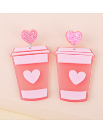Fashion Milk Tea Cup Acrylic Milk Tea Cup Resin Earrings