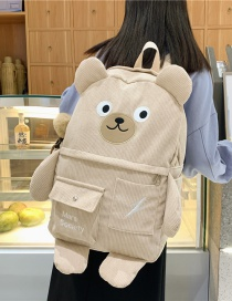 Fashion Its Color To Send Pendant Large Capacity Corduroy Bear Backpack