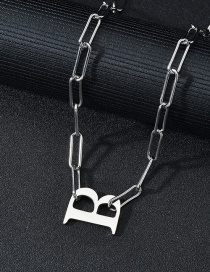 Fashion B Word Necklace Letter Titanium Steel Thick Chain Necklace