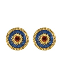 Fashion Single Flower Sunflower Alloy Drip Earrings
