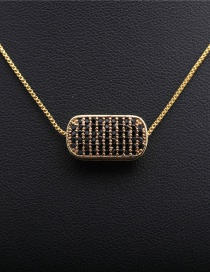 Fashion Box Chain Gold Gold-plated Copper Necklace With Micro-inlaid Zircons