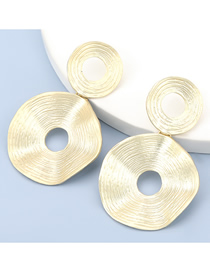 Fashion Gold Color Irregular Hollow Circle Alloy Earrings