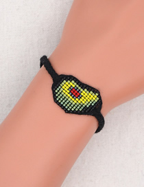 Fashion Black Handmade Beaded Avocado Abstract Childrens Bracelet