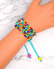 Fashion Color Mixing Handmade Beaded Multi-layered Bracelet