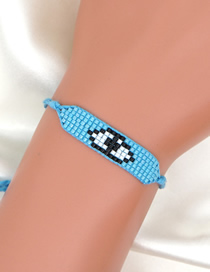 Fashion Blue Eyes Handmade Beaded Rice Bead Bracelet