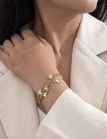 Fashion Gold Color Xingyue Butterfly Alloy Hollow Bracelet Set