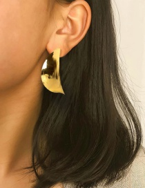 Fashion Gold Color Alloy Plating Leaves Earring