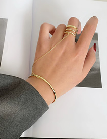 Fashion Gold Color Chain Stitching Alloy Geometric Ring Bracelet